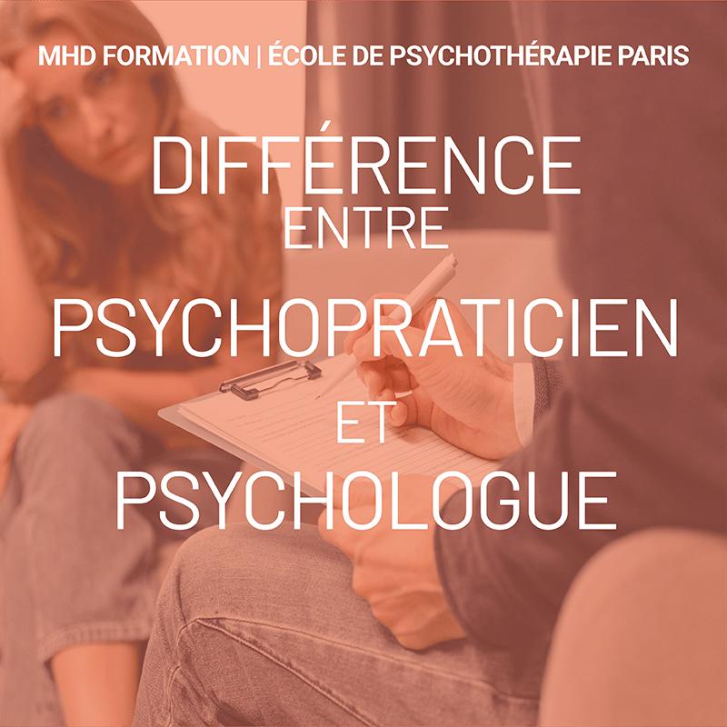 difference ENTRE psychopraticien et psychologue